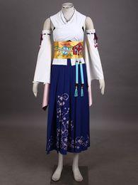 Wholesale-Final Fantasy X Yuna anime cosplay Halloween Costumes