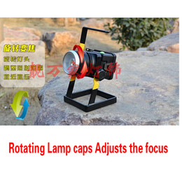 Wholesale 2016 Rechargeable LED Floodlight Searchlight Focusable High Beam LED Light Flashlight Portable LED Lighting The Rescue Lights Outdoor Lights