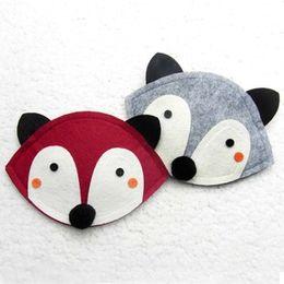 12x13CM 2 Color children Fashion cartoon fox wallet 2015 new girl cute fox bag fox purse Handbag wallet