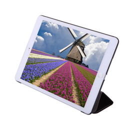 Wholesale iPad Air2 Leather Wallet Stand Flip Case Smart Cover for iPad Air With Auto Sleep Wake UP Function Smart Case