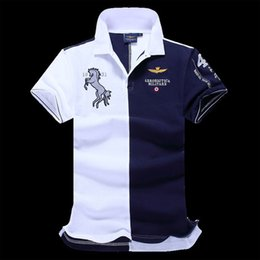 Wholesale In the new England men s clothing brand Paul shirt Lapel cotton short sleeved summer air force aviation industry