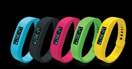 Wholesale 5 Color Smart Sports Bracelet original Fitbit flex health records pedometer step counter wireless sleep bracelet B2