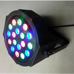 Livraison en gros-Free 3W * 18 High Power LED RGB DMX512 maître-esclave Stand-Alone LED Par Scène Lumière Lumières mariage DJ Light Bar Laser à partir de barres autoportantes fabricateur