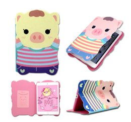 Wholesale New Arrival Super Cute Cartoon PIG PU Leather Stand Protective case cover for ipad mini air