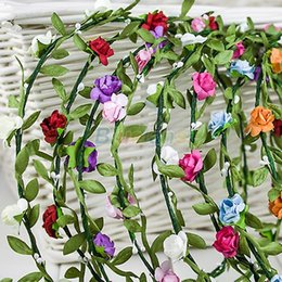 Boho Lady Girl Floral Flower Festival Wedding Garland Forehead Hair Head Band headbands Crown Accessories Sports Wholesale 1NMR