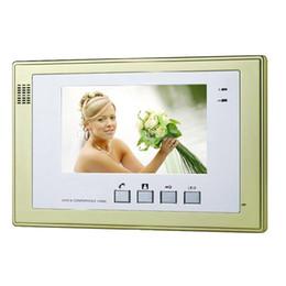 """Systèmes d'interphone de portier vidéo à vendre-Portier Sonnette touche tactile de 7 """"LCD Moniteur vidéo Of Home Entrée système Intercom"""