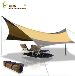 Wholesale Recreation Outdoor Tent Shelter The Sun Awning Collapsible Gazebo Canopy Beach Tents Camping Sun Shade FLYTOP Tent