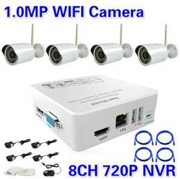 Free Shipping ! CCTV 4CH wireless night vision video surveillance ip wifi camera system 8ch 720P 960P 1080P NVR recorder kit