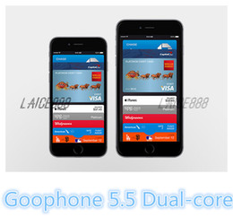 Wholesale 2015 New Arrival inch Goophone i6 i6 Dual Core MTK6572 GHz GB GB Android Jelly Bean GPS WiFi G WCDMA Smart Phone