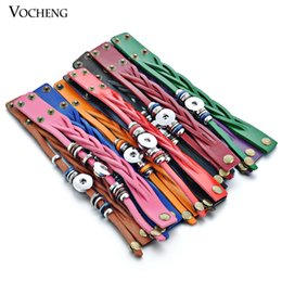 Vocheng NOOSA Bracelet Wholesale Mix Colors Snap Jewelry Genuine Leather 18mm Metal Button Snap Charm NN-358