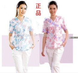 Wholesale Split set nurse clothing beauty services baby care suit print wash clothes isolation gown scrub suit