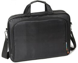 Nylon Notebook Laptop Portable Business Shoulder Men Bag 13 14 15 15.6 inch Black