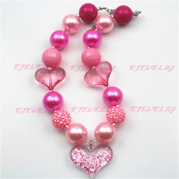 Valentines Chunky Children Girls Bubblegum Chunky Necklace Girls Necklace CB539