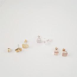 Fashion burger and fries stud earrings Fast food combination stud earrings 18 k gold plating food stud earrings.