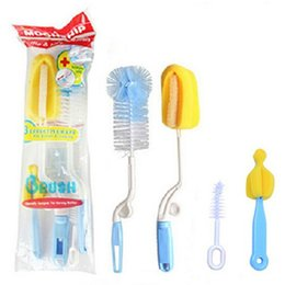 Wholesale Hot in1 Baby Milk Bottle Nipple Tube Teat Cleaning Brush Set Color Random Brand New Good Quality