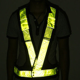 Wholesale-V reflecting vest high visiable workwear safety reflective motorcycle high visibility motorcycle vest safety security visibility