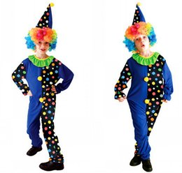 Embarrassing Joker Harlequinade Costumes Cute clown Anime cosplay halloween Costume For Kids Classic Circus Performance Clothing
