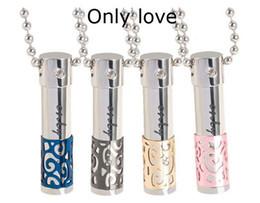 Beaux colliers à vendre-inox chaîne en acier collier de lien magnifique pendentif bouteille de parfum dames collier de mode bouteille de parfum