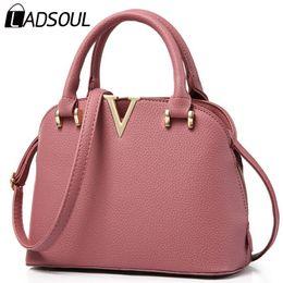 Wholesale-Ladsoul! 2016 New Women Leather Handbags Luxury leather Good Quality Women Messenger Bags Shoulder Bag Original Women Bag HL7675