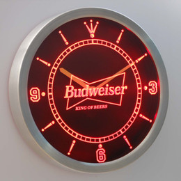 nc0472 Budweiser LUMINOVA Neon Sign Bar Beer Decor LED Wall Clock Free Shipping Dropshipping Wholesale