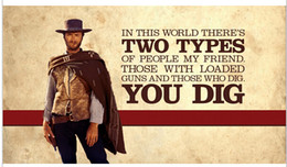 Wholesale The Good the bad and the ugly Poster Print Poster Silk Wall Poster30x20 inch Big Office Room Prints Mural Decors