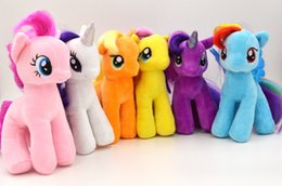 Wholesale 2016 My Little Pony plush toy Rainbow Horse doll inch cm colors super soft doll good quality baby girls best gift