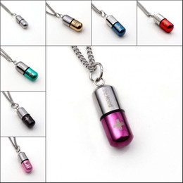 Wholesale 10Pcs Stainless Steel Cylindrical Fashion With DE MOOD Cross Pendant With a Chain Necklace Charm Jewelry