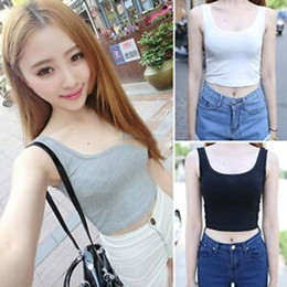 Sexy Womens Crew Neck Casual Blouse Midriff Crop Tops Sleeveless T-Shirt Tank