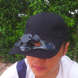 Wholesale Solar Power Hat Mini Air Fan Peak Solar Cap Sunhat for Outdoor Camping Cycling