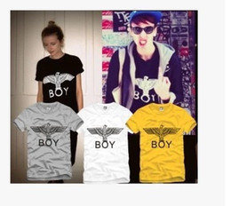 Wholesale-New Novel T Shirt Brand Men Newest Printed Boy London Tees Tops Harajuku Letter Tee Shirts