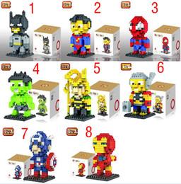 Boîte d'araignée jouet en Ligne-DHL 2,016 Superhero bricolage blocs de construction 9152-9159 Iron man spider-man Captain America LOZ diamant blocs enfants jouets éducatifs avec boîte C359
