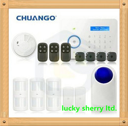Home Security Alarm System 315MHz Chuango B11 Support Dual network PSTN and GSM With Smoke Detector