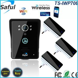 Wholesale 2016 wireless wifi video intercom door phone for access control system Android IOS Phone APP Remote with dingdong doorbells