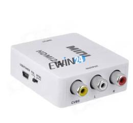 Promotion convertisseurs vidéo nouvelle et de haute qualité Mini Composite 1080P HDMI vers RCA Audio Video AV CVBS Adaptateur convertisseur pour la TVHD 100pcs
