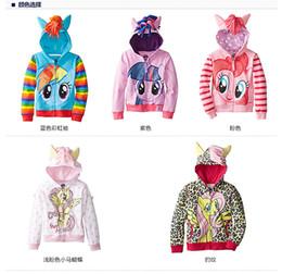 Le plus récent mon petit poney vêtements filles Printemps automne mon petit poney hoodies enfants cartoon hoodies enfants vêtements zipper outerwear hoodies 6 newest girls clothing promotion à partir de nouvelle filles vêtements fournisseurs