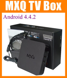 Wholesale MX MXQ TV BOX Amlogic S805 Quad Core Android K Stream H MINI PC Movies Channels Kodi Media Player Google Play Store OTH035