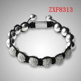 jewelry factory!Nialaya Individuality Best bracelets shamballa gold alloy cool dill Weave adjust High-grad Copper Beads bracelets ZXF8313