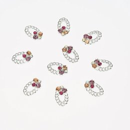 10Pcs Beauty 3D Nail Art Alloy Decoration Nail Jewelry Silver DIY Decoration For Nail Nail Accessories