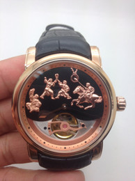 Men's version of the classic rose gold version of mechanical watches