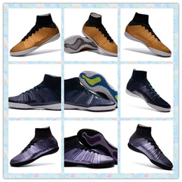 Wholesale Cheapest Best Winter Boots - Fast 2016 New Elastico Superfly pro 10 ACC TF Indoor Best Gold Blue Purple Football futbol boots soccer shoes mens Cheap Training Sneakers