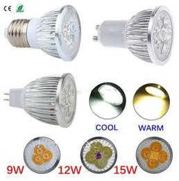 Spotlight lampe Dimmable E27 GU10 MR16 3x3W 9W 4x3W 12W 15W 5x3W LED Spot Light Bulb downlight intérieur équivalent à 35-75W Ampoule halogène supplier halogen lamp 15w led à partir de lampe halogène 15w conduit fournisseurs