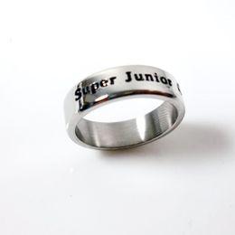 Wholesale Fashion Jewelry Rings kpop super junior suju titanium steel ring free size steel finial steel hoop