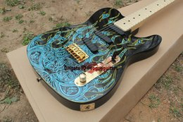 High Quality New Arrival electric guitar Blue flame pattern factory direct sale Electric Guitar Free Shipping