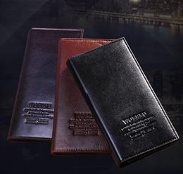 Wholesale Cheap Clutch Purses Leather - Cheap Leather designer mens wallets purse clutch men ultra-thin pocket long leather wallet for mans purses classic leisure suit bag