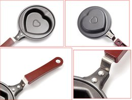 Wholesale Healthy Nonstick Lovely BBQ Heart Shape Stainless Steel Frying Egg Pan Eco Fry Pan Skillet Mini Frying Kitchen Cook W11