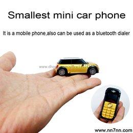 Wholesale Italian Portugue French Car model bluetooth dialer Headlight MP3 dual sim Sync phone book small mobile mini phone handset P098
