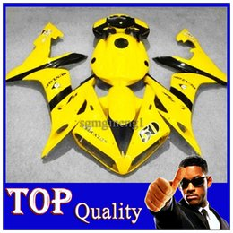 Wholesale YZF R1 yellow black AMV Body Kit fairing For Yamaha YZF1000 YZF R1 YZFR1