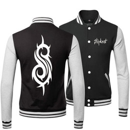Wholesale heavy metal SLIPKNOT BAND SPRING FALL WINTER Classic Jacket lover s Sweatshirt baseball uniform for MAN AND WOMAN