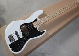 Grosses soldes !! Blanc Marcus Miller Signature 4 cordes Jazz Bass Guitare électrique Nature Bois 9V Amplifier Circuit actif à partir de guitares de signature à vendre fabricateur