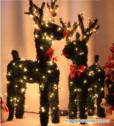 Wholesale Lighted Large Christmas Deer Best Christmas Decorations Christmas Deer Decorative Christmas Tree Decorated With Holiday Items For Home